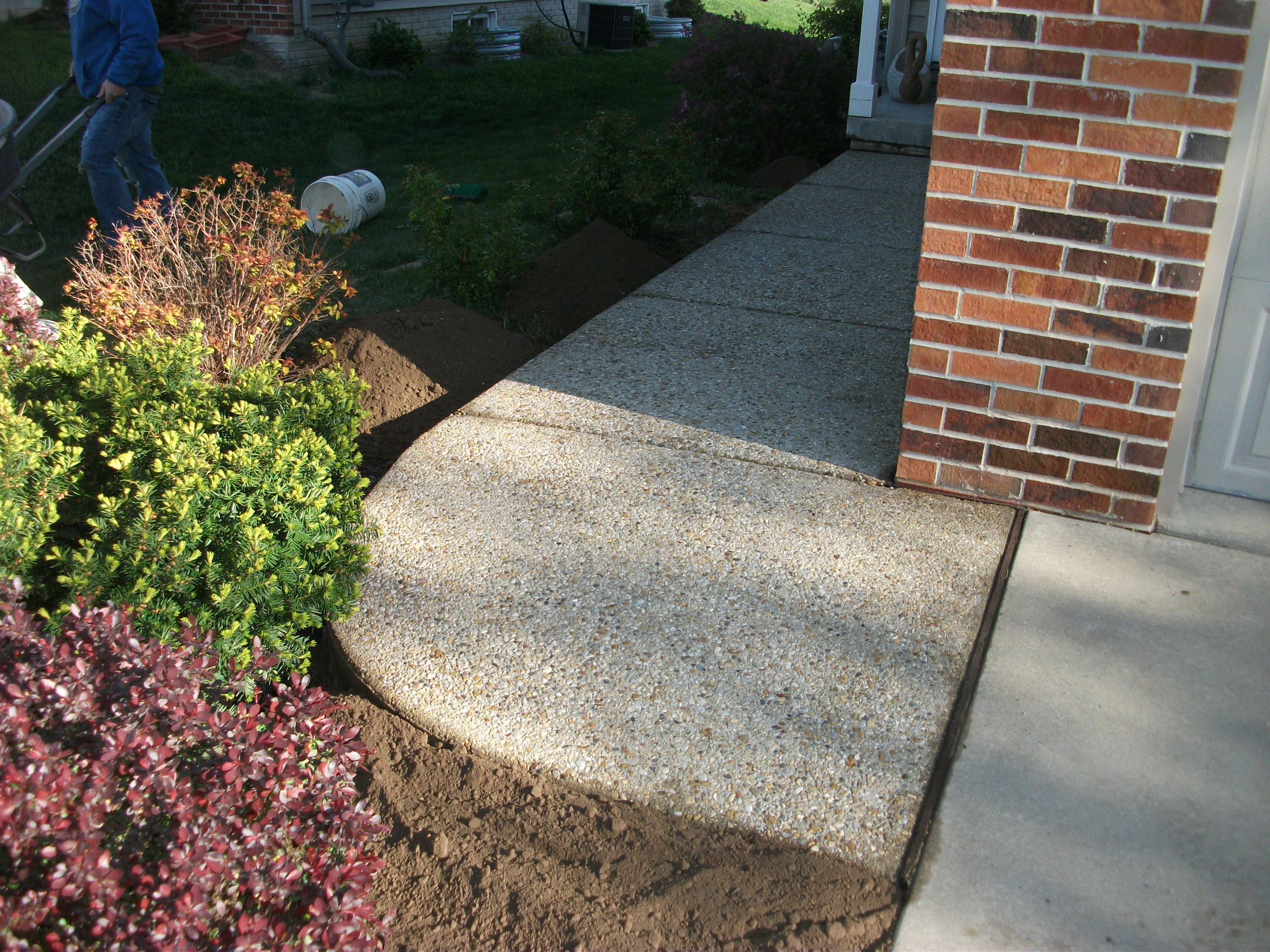 Building steps out of pavers